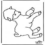 Disegni da colorare  Animali - Pecorella 1
