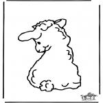Disegni da colorare Animali - Pecorella 2