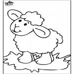 Disegni da colorare Animali - Pecorella 4