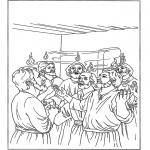 Disegni biblici da colorare - Pentecoste 2
