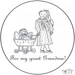 Disegni da colorare Temi - Per una nonna speciale