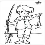 Disegni da colorare Vari temi - Pesca 3