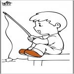 Disegni da colorare Vari temi - Pesca 4