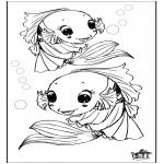 Disegni da colorare Animali - Pesce 3