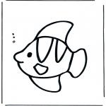 Disegni da colorare Animali - Pesce sottacqua