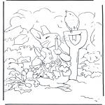 Disegni da colorare Vari temi - Peter è malato