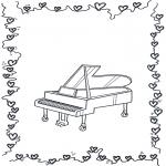 Disegni da colorare Vari temi - Pianoforte a coda