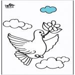 Disegni da colorare Animali - Piccione 2