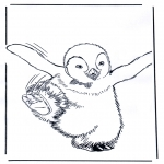 Disegni da colorare Animali - Pinguini 4