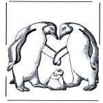 Disegni da colorare Animali - Pinguino con piccolo