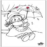 Disegni da colorare Vari temi - Pioggia