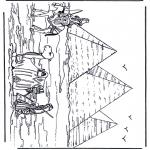 Disegni da colorare Vari temi - Piramidi in Egitto