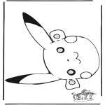 Disegni da bucherellare - Pokemon Maschera