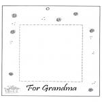 Disegni da colorare Temi - Portaritratti per la nonna