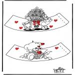 Disegni da colorare Temi - Portauovo - San Valentino