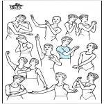 Disegni da colorare Vari temi - Posture balletto