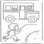 Disegni per i piccini - Prendi lo scuolabus