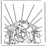 Disegni biblici da colorare - Presepio 1