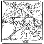 Disegni biblici da colorare - Presepio 3