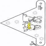 Disegni da colorare Natale - Presepio - Bandierina