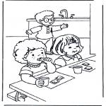 Disegni per i piccini - Prima colazione