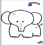 Disegni per i piccini - Primalac - elefante