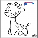 Disegni da colorare Animali - Primalac giraffa