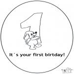Disegni da colorare Temi - Primo compleanno!