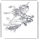 Disegni da colorare Vari temi - Principe su unicorno