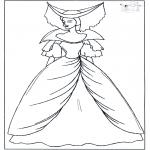 Disegni da colorare Vari temi - Principessa 1