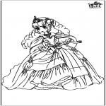 Disegni da colorare Vari temi - Principessa 10