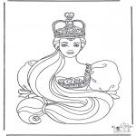 Disegni da colorare Vari temi - Principessa 2