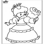 Disegni da colorare Vari temi - Principessa 4