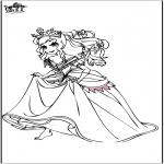 Disegni da colorare Vari temi - Principessa 5
