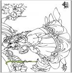 Disegni da colorare Vari temi - Principessa 6
