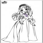 Disegni da colorare Vari temi - Principessa 7