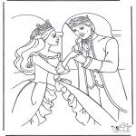 Disegni da colorare Vari temi - Principessa ballante