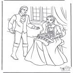 Disegni da colorare Vari temi - Principessa e principe 1
