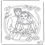 Disegni da colorare Vari temi - Principessa e principe 3
