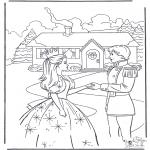 Disegni da colorare Vari temi - Principessa e principe 4