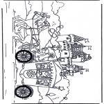 Disegni da colorare Vari temi - Principessa nel carro