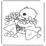 Disegni da colorare Animali - Pulcino