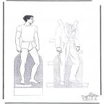 Lavori manuali - Pupazzo da vestire 2