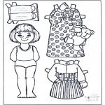 Lavori manuali - Pupazzo da vestire 5