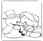 Pupazzo di neve con orsetto