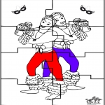 Disegni da colorare Temi - Puzzle - Carnevale