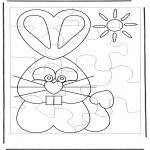 Disegni da colorare Temi - Puzzle della lepre di Pasqua 1