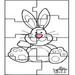 Disegni da colorare Temi - Puzzle della lepre di Pasqua 3