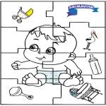 Disegni da colorare Temi - Puzzle di bambino 2