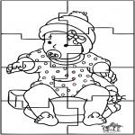 Disegni da colorare Temi - Puzzle di bambino